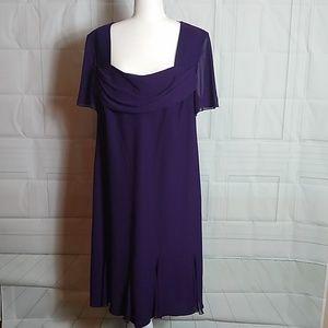 Purple Dress Barn Woman Collection Formal Dress